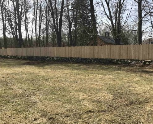 Bridgewater CT retaining wall and lawn care job